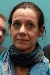 © Licensed to London News Pictures. 27/05/2019. London, UK. Annunziata Rees-Moggjoins new MEPs during a press conference in London, Britain, on May. 26, 2019. Photo credit: Ray Tang/LNP