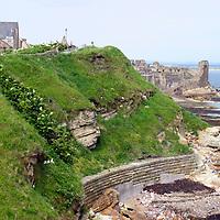Europe, Great Britain, United Kingdom, Scotland, St. Andrews. St. Andrews Castle and coastline.