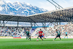 06.04.2019, Tivoli Stadion Tirol, Innsbruck, AUT, 1. FBL, FC Wacker Innsbruck vs SK Rapid Wien, Qualifikationsgruppe, 24. Spieltag, im Bild v.l. Sascha Horvath (FC Wacker Innsbruck), Thomas Murg (SK Rapid Wien), Christian Klem (FC Wacker Innsbruck) // during the tipico Bundesliga qualification group, 24th round match between FC Wacker Innsbruck and SK Rapid Wien at the Tivoli Stadion Tirol in Innsbruck, Austria on 2019/04/06. EXPA Pictures © 2019, PhotoCredit: EXPA/ Stefan Adelsberger