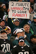 16 Jan 2005: Eagles fans with Randy Moss sign during the Philadelphia Eagles 27-14 victory over the Minnesota Vikings at Lincoln Financial Field in Philadelphia, PA. <br /> Mandatory Credit:Todd Bauders/ContrastPhotography.com