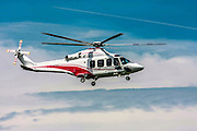 Privately owned Agusta A109E Power helicopter I-EASG