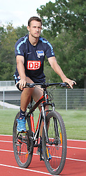 04.08.2014, Athletic Area, Schladming, AUT, Hertha BSC, im Bild Christoph Janker (Hertha BSC, #6) unterwegs mit einem Mountainbike // during a training session of the German Bundesliga Club Hertha BSC at the Athletic Area, Austria on 2014/08/04. EXPA Pictures © 2014, PhotoCredit: EXPA/ Martin Huber