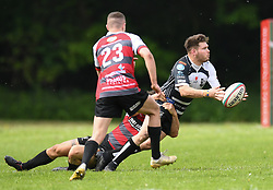Pontypridd's Gary Williams<br /> Cross Keys v Pontypridd RFC<br /> <br /> Photographer Mike Jones / Replay Images<br /> Pandy Park, Cross Keys.<br /> Wales - 12th May 2018.<br /> <br /> Cross Keys v Pontypridd RFC<br /> Principality Premiership<br /> <br /> World Copyright © Replay Images . All rights reserved. info@replayimages.co.uk - http://replayimages.co.uk