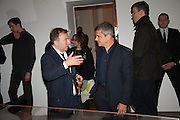 TONY CHAMBERS; HARRY HANDLESMAN, Opening of Morris Lewis: Cyprien Gaillard. From Wings to Fins, Sprüth Magers London Grafton St. London. Afterwards dinner at Simpson's-in-the-Strand hosted by Monika Spruth and Philomene Magers.