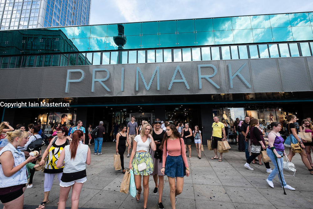 busy new Primark shop in Alexanderplatz in Mitte district of Berlin Germany