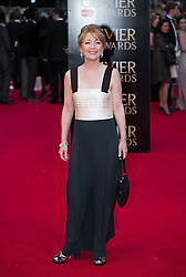 The Laurence Olivier Awards - Red Carpet Arrivals. Lesley Manville attends The Laurence Olivier Awards at the Royal Opera House, London, United Kingdom. Sunday, 13th April 2014. Picture by Daniel Leal-Olivas / i-Images