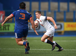 Englands Jack Reeves<br /> Photographer Mike Jones/Replay Images<br /> <br /> England U18s v France U18s<br /> Six Nations, Sunday 8th April 2018, <br /> Cardiff Arms Park, Cardiff, <br /> <br /> World Copyright © Replay Images . All rights reserved. info@replayimages.co.uk - http://replayimages.co.uk