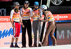 Piotr Zyla, Dawid Kubacki, Maciej Kot and Kamil Stoch of Poland during the Ski Flying Hill Men's Team Competition at Day 3 of FIS Ski Jumping World Cup Final 2017, on March 25, 2017 in Planica, Slovenia. Photo by Vid Ponikvar / Sportida