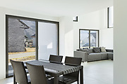 Architecture, interior of a modern house, dining room