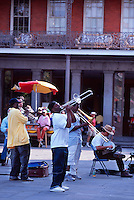 Jazz musicians perform in Jackson Square (French Quarter), New Orleans, Louisiana