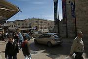 Israel, Jerusalem, Old city Jaffa gate square inside the walls near the David citadel