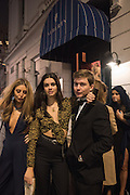 EMILY LEWIS; GRACE MCGOVERN; FRED DUNLOP, Fraser Carruthers  and Harry Scofield birthday. Archie's club, 92b Old Brompton Rd. London. 11 February 2017