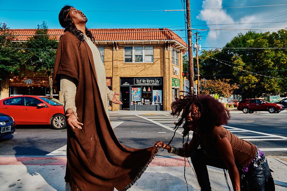 Actor Slink Johnson, star of the Adult Swim show Black Jesus, photographed in Little 5 Points, Atlanta, GA.