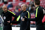 Referee Mike Dean during the English Premier League match at Riverside Stadium, Middlesbrough. Picture date: April 26th, 2017. Pic credit should read: Jamie Tyerman/Sportimage