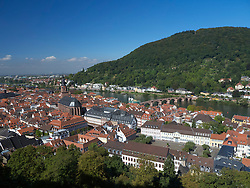 Skyline of City of Heidelberg in Baden-Wurttemberg Germany