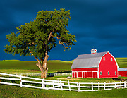 Red Barn in the Palouse, Washington