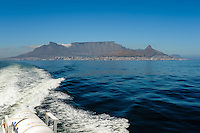 On the way to Robben Island in Table Bay off the coast of Cape Town, South Africa, most known for its apartheid prison.