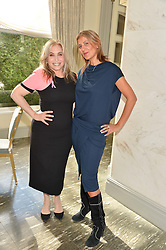 Left to right, BRIX SMITH START and perfume designer AZZI GLASSER at the Future Dreams 'United For Her' Ladies Lunch 2016 held at The Savoy, London on 10th October 2016.