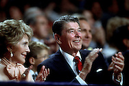 A 30 MG IMAGE OF:..The Reagan's at the Republican Convention in August of 1988...Photo by Dennis Brack R F