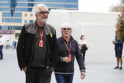 April 28, 2018 - Baku, Azerbaijan - BRIATORE Flavio, ECCLESTONE Bernie (gbr), portrait, during the 2018 Formula One World Championship, Grand Prix of Europe in Azerbaijan from April 26 to 29 in Baku  (Credit Image: © Hoch Zwei via ZUMA Wire)