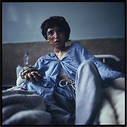 A burn victim at a hospital in Jalalabad.