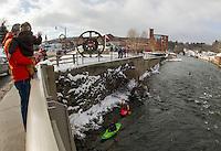 New Year's Eve kayak at Franklin Trestle Park January 1, 2013.  Karen Bobotas Photographer