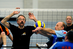 08-01-2011 VOLLEYBAL: ED ROOSEN ZITVOLLEYBALTOERNOOI 2011: LEERSUM<br /> Voller volleyball club organizes for the ninth consecutive time the Ed Roosen sitting volleyball tournament / Ljubljana Slovenia vs. Allvo<br /> ©2011-WWW.FOTOHOOGENDOORN.NL