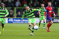 Forest Green Rovers Liam Noble(15) crosses the ball during the Vanarama National League match between Forest Green Rovers and Aldershot Town at the New Lawn, Forest Green, United Kingdom on 5 November 2016. Photo by Shane Healey.