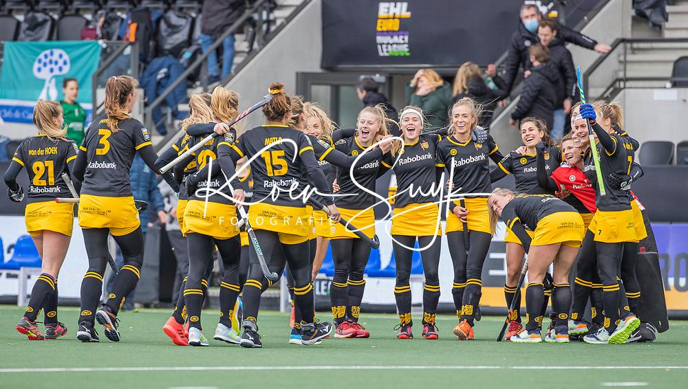 AMSTELVEEN -  vreugde bij Den Bosch na  de Euro Hockey League finale dames, HC Den Bosch-Club Campo de Madrid (5-0).  COPYRIGHT KOEN SUYK
