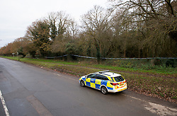 ©Licensed to London News Pictures 07/12/2019.<br /> Dartford,UK.  A large police cordon is in place around woodland at Dartford Heath, Dartford,Kent. <br /> According to Local media Kent police are investigating the rape of a woman on Thursday 5th December. Police arrived at the scene yesterday afternoon (6th December).<br /> Photo credit: Grant Falvey/LNP