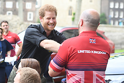 Prince Harry attends the launch of the UK's Invictus Games team at the Tower of London.