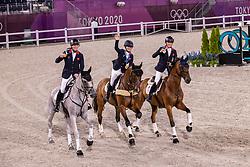 Team Great Britain, Mcewen Tom, Collett Laura, Townend Oliver<br /> Olympic Games Tokyo 2021<br /> © Hippo Foto - Dirk Caremans<br /> 02/08/2021