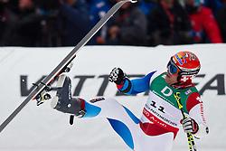 18.02.2011, Kandahar, Garmisch Partenkirchen, GER, FIS Alpin Ski WM 2011, GAP, Herren, Riesenslalom, im Bild Didier Cuche (SUI) macht einen Salto mit seinen Ski // Didier Cuche (SUI) during men's Giant Slalom Fis Alpine Ski World Championships in Garmisch Partenkirchen, Germany on 18/2/2011. EXPA Pictures © 2011, PhotoCredit: EXPA/ J. Groder