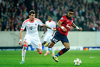 FOOTBALL - UEFA CHAMPIONS LEAGUE 2012/2013 - GROUP F - LILLE OSC v FC BAYERN MUNCHEN - 23/10/2012 - PHOTO JEAN MARIE HERVIO / REGAMEDIA / DPPI - FRANCK BERIA (LOSC) / MARIO MANDZUKIC (BAY)