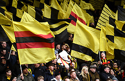 Watford fans show their support from the stands