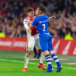 13-03-2019 NED: Ajax - PEC Zwolle, Amsterdam<br /> Ajax has booked an oppressive victory over PEC Zwolle without entertaining the public 2-1 / Vito van Crooij #7 of PEC Zwolle, Frenkie de Jong #21 of Ajax
