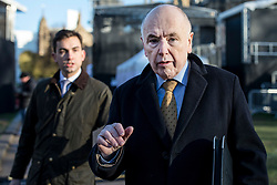 © Licensed to London News Pictures. 30/01/2019. London, UK. Labour MP Jack Dromey, whose amendment with Conservative MP Caroline Spelman to prevent a no deal Brexit was narrowly passed, on College Green after giving media interviews. Theresa May has said she will return to Brussels to seek further concessions from the EU. Photo credit: Rob Pinney/LNP
