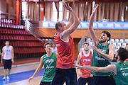 Chamutov 17 Agosto 2012 - qualificazioni Eurobasket 2013 - Allenamento<br /> Nella Foto : MARCO CUSIN<br /> Foto Ciamillo/Castoria