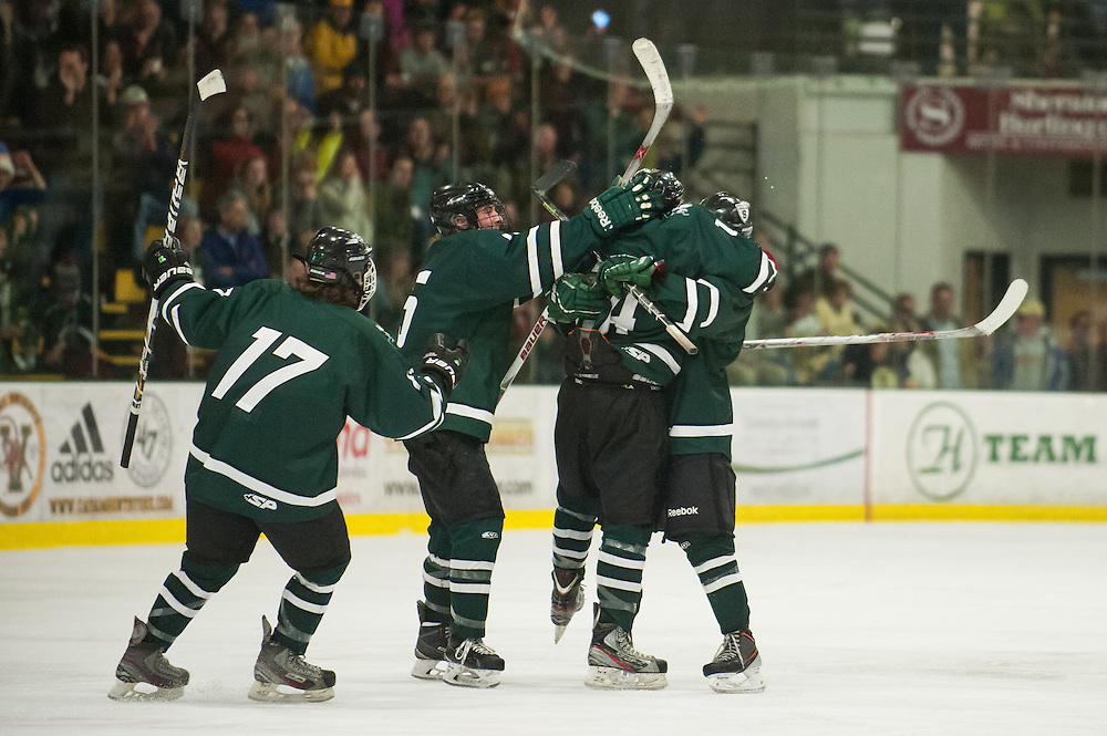 The Vermont State division II boys hockey championship between Stowe and U-32 at Gutterson Field House on Monday night March 9, 2015 in Burlington, Vermont