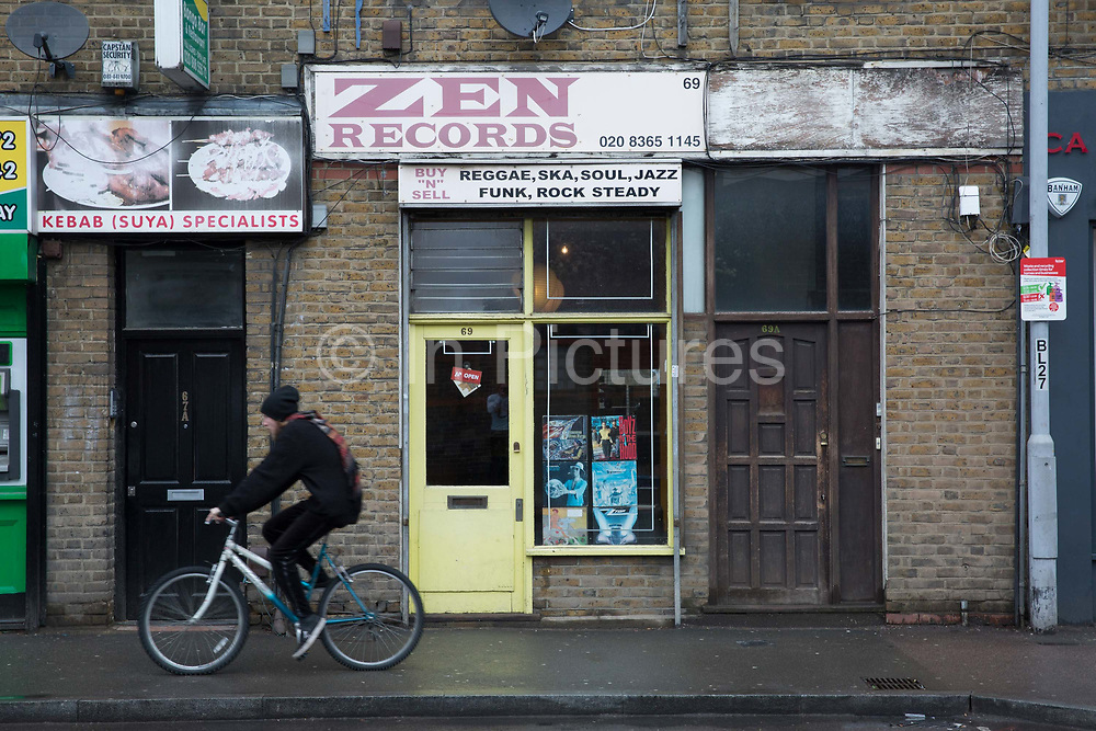 Zen Records in Seven Sisters on the 28th March 2018 in North East London in the United Kingdom.