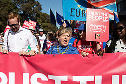 © Licensed to London News Pictures . 21/09/2019. Brighton, UK. LLOYD RUSSELL-MOYLE and EMILY THORNBERRY lead the march . Thousands attending a march organised by the People's Vote for a second EU referendum on Brexit pass through Brighton and along the Promenade during the first day of the 2019 Labour Party Conference from the Brighton Centre . Photo credit: Joel Goodman/LNP
