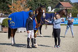 Arroyave Dayro, COL, Cascol Z<br /> Belgian Championship 7years old horses<br /> SenTower Park - Opglabbeek 2020<br /> © Hippo Foto - Dirk Caremans<br />  13/09/2020
