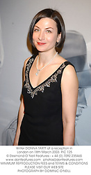 Writer DONNA TARTT at a reception in London on 18th March 2003.PIC 125