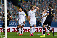 Leeds United's Patrick Bamford, Helder Costa and Ezgjan Alioski react to a missed chance<br /> <br /> Photographer Alex Dodd/CameraSport<br /> <br /> The EFL Sky Bet Championship - Leeds United v Luton Town - Tuesday 30th June 2020 - Elland Road - Leeds<br /> <br /> World Copyright © 2020 CameraSport. All rights reserved. 43 Linden Ave. Countesthorpe. Leicester. England. LE8 5PG - Tel: +44 (0) 116 277 4147 - admin@camerasport.com - www.camerasport.com