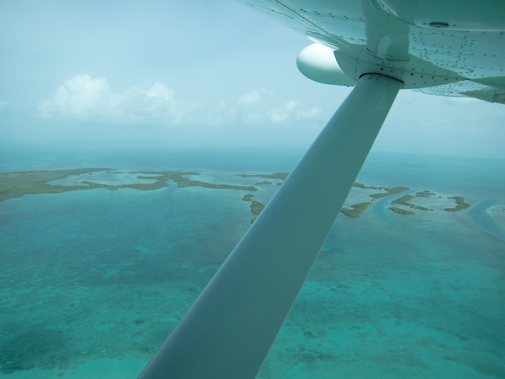 Ambergris Caye, Belize 8/31/2012.Heading back to Belize City aboard Tropic Air..Alex Jones / www.alexjonesphoto.com