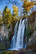 Little Spearfish Creek plunges over Spearfish Falls. Walk the trail to Spearfish Falls for 1.5 miles round trip within Spearfish Canyon Nature Area, managed by South Dakota Game, Fish & Parks.