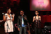 l to r: Toccara, Hal Linton and Suai at The Vibe Magazine Presents Vsessions Live! Hosted by the Fabulous Toccara featuring Hal Linton, Suai and Ron Browz held at Joe's Pub on February 25, 2009 in NYC