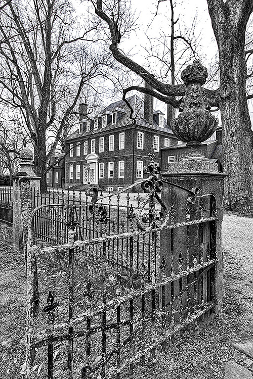 One of several gates on the grounds of the historic Westover Plantation along the James River near Charles City, Virginia.