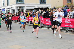 March 10, 2019 - London, United Kingdom - Runners are seen in action during The Vitality Big Half, which has returned for a festival of running and culture to the heart of London in a celebration of the rich and wonderful diversity of the capital city and Finishing it at Cutty Sark. (Credit Image: © Terry Scott/SOPA Images via ZUMA Wire)