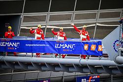 May 13, 2018 - Monza, Italie - 55 SPIRIT OF RACE (CHE) FERRARI F488 GTE GTE DUNCAN CAMERON (GBR) MATTHEW GRIFFIN (IRL) AARON SCOTT (GBR) WINNER GTE (Credit Image: © Panoramic via ZUMA Press)